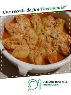 Conchiglioni farcies au poulet par cuisinerpassion. Une recette de fan à retrouver dans la catégorie Pâtes & Riz sur www.espace-recettes.fr, de Thermomix<sup>®</sup>.