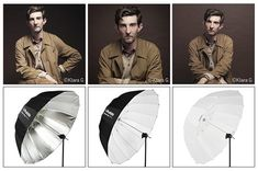 Profoto introduce twelve new high-quality umbrellas in all shapes and sizes, including a deeper, more parabolic version. Portrait Lighting Setup, Studio Lighting Setups, Photography Lighting Setup, Photo Lighting, Umbrella Lights Photography, Photography Lessons, Flash Photography, Light Photography, Photography Tutorials