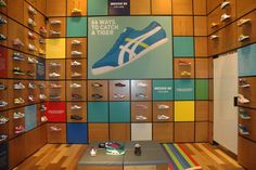 Onitsuka Tiger store design and brand activation campaign by Storeage Amsterdam