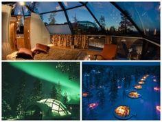 ¿Ver la aurora boreal es una de esas cosas que tienes en tu lista de 'Cosas que hacer y ver alguna vez en la vida'? ¿Pues qué te parece la idea de verla tendido en una cama?… alucinante, ¿verdad? Te presentamos este extraño hotel en el que cada habitación semeja ser una cápsula. Disfruta de Finlandia y de la aurora boreal desde el Hotel Kakslauttanen.