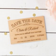 Personalised Save The Date Wooden Timbergram   GettingPersonal.co.uk