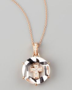 Jelly Cross Pendant Necklace by Frederic Sage at Neiman Marcus.