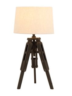 Tripod Table  Lamp from Updated-Rustic Lighting on Gilt