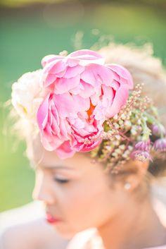 Floral Fascinator, Derby Inspired Wedding