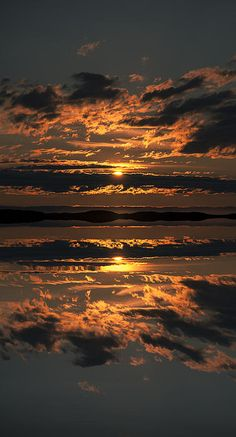 Sunset over the Flatanger Archipeligo in Norway