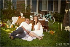 Outdoor Picnic Engagement Shoot and Country Wedding Décor by Country Girl Collections