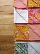 Lightweight receiving blanket - Voile and Cloud 9 Flannel Martha Stwart Encycl Sewing & Fabric