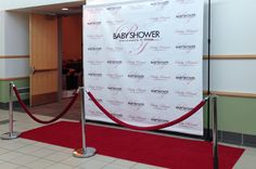 Red carpets and banners for baby showers, sweet 16 parties, and more.