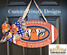 Hanger Auburn Tigers Door Hanger by lilmaddydesigns on Etsy, $45.00