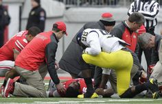 Ohio State director of development and community relations penned a letter to Gardner on Saturday thanking him for his display of class and humanity during the Michigan-Ohio State game. Ohio State Game, Ohio State Michigan, Michigan Athletics, Michigan Go Blue, Michigan Wolverines Football, Football Presents, Football Rivalries, College Football Games, Sports Pictures