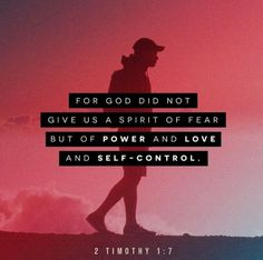 Bible Scriptures, Bible Quotes, Worship Scripture, Scripture Study, Youversion Bible, Spirit Of Fear, Holy Spirit, Amplified Bible, 2 Timothy