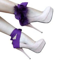 Purple and cute heels