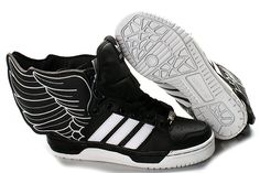 quality design a8ca6 051d7 Cuero Negro Blanco Originals Jeremy Scott x adidas Originals JS Alas