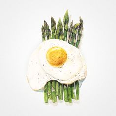 Asparagus & Eggs This dish is exactly what it looks like, takes no time at all to make, and has all the lovely appeal of classic French cuisine. It'sa perfect side dish or can be made into a small meal in itself, especially if you add some prosciutto and fresh bread. I typicallymake this in April at the peak of asparagus season and/or as an appetizer for a romantic home meal, because asparagus is an aphrodisiac. When buying asparagus, look for straight, firm, bright green spears and cook…