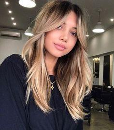 Medium Hair Styles, Long Hair Styles, Hair Medium, Dramatic Hair, Long Hair With Bangs, Side Bangs With Long Hair, Edgy Long Hair, Bangs For Round Face, Long Layered Hair