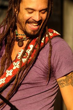 Michael Franti met him in Denver at the Mile High Music Fest, then in Aspen on stage at the Aspen Jazz Festival. What an inspiration. Beautiful Men, Beautiful People, Bohemian Men, Celebs, Celebrities, Dreads, Music Is Life, Make Me Smile, Singer