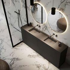 Black rustic bathroom Most Popular ideas Rustic Bathroom Decor, Rustic Bathrooms, Bathroom Styling, Large Furniture, Cool Furniture, Rustic Home Interiors, Black And White Marble, Marble Tiles, Minimalist Bathroom
