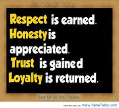 quotes on trust and loyalty | Honesty is appreciated Loyalty Quotes – ApnaTalks.com