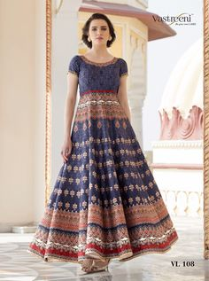 SAPTARANGI VL-108-A_1 RATE : 3295 - SAPTARANGI VASTREENI  101-109 SERIES  DESIGNER TRADITIONAL LOOK 2IN1 STYLE PRINTED PARTY WEAR LEHENGA & GOWN STYLE INDIAN WOMEN FASHION STYLISH SUITS AT WHOLESALE PRICE AT DSTYLE ICON FASHION CONTACT: +917698955723 - DStyle Icon Fashion