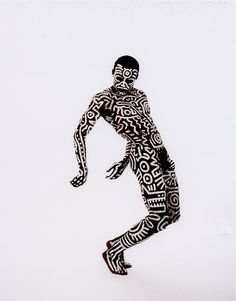 Bill T. Jones, 1983 Body painting by Keith Haring, photographed by Tseng Kwong Chi, London, England, 1983