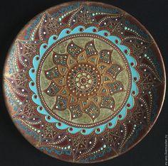 Купить Тарелка декоративная Sunny mystery - тарелка сувенирная, тарелка на стену, оригинальный подарок