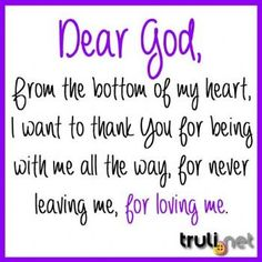 Thank you Lord for your many blessings