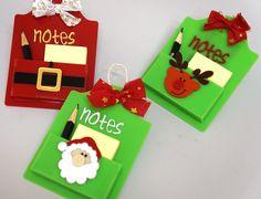 Porta post it lindo e personalizado! Uma linda lembrança de Natal