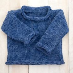 Easy Baby Sweater Knitting Pattern- a beginner-friendly project for a classic baby sweater! Boys Knitting Patterns Free, Baby Cardigan Knitting Pattern Free, Baby Sweater Patterns, Knitted Baby Cardigan, Knit Baby Sweaters, Knitted Baby Clothes, Baby Knits, Sweaters For Babies, Baby Knitting Free