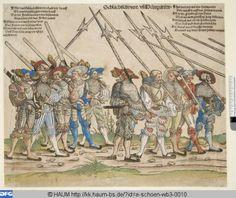 """""""Schlachtschwert und Helmparten"""", aus """"Heereszug der Landsknechte"""", 1535/42, Erhard Schön (1491-1542)"""
