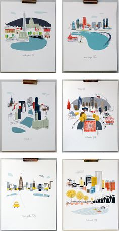 City artwork by Albie Designs + a $100 giveaway (ends 2/12/14)  http://emilyaclark.com/2014/02/city-art-by-albie-designs-a-giveaway.html