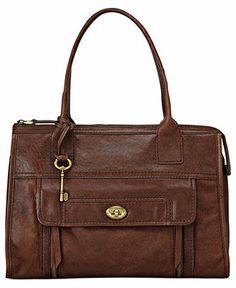 Fossil Handbag, Stanton Leather Satchel