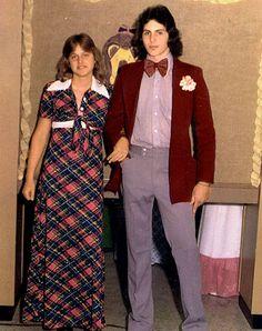 Ellen DeGeneres senior prom photo, ca. 1976, Atlanta High School in Atlanta, TX