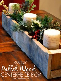 Projects Pallet DIY Pallet Projects: 55 Incredible Ways To Reuse Pallets for Decor and Furniture and Everything Inbetween Christmas Crafts For Kids To Make, Christmas Tree Themes, Christmas Projects, Holiday Crafts, Holiday Decor, Christmas Ideas, Christmas Center Piece Ideas, Christmas Traditions, Pallet Christmas