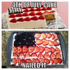 My 4th of July cake from last year! Nailed it! #fail