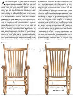 Build Rocking Chair - Furniture Plans