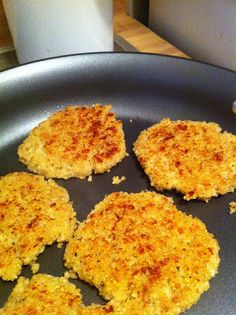 Cheesy Quinoa Cakes, easy high protein side dish!  ****** Half the cheese, egg whites and cut out salt!