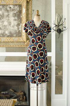 Vintage Betsey Johnson Silk Dress Blue Butterfly by HouseofSeance