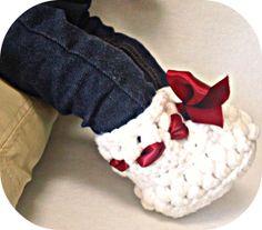 Handmade Crocheted Baby Christmas Booties  Baby  by PeachGroup, $20.00