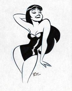 Erotic Art by Bruce Timm Retro Art, Vintage Art, Vintage Comics, Comic Books Art, Book Art, Dibujos Pin Up, Pin Up Drawings, Bruce Timm, Arte Sketchbook