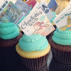 Oh Boy! a book themed baby shower - theCupcakediary.com