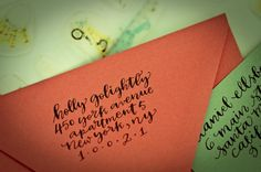 calligraphy address stamp from etsy