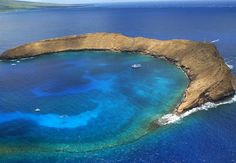 Molokini Crater just off of Maui.  The snorkeling is FABULOUS!