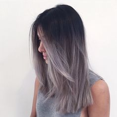 I love meeting new babes Grey is still happening and doesn't seem to be going anywhere #grey #greyhair #greyombre #ombre #hair #haircolor #color by #mizzchoi @ramireztransalon #ramireztran #ramireztransalon