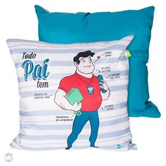 Almofada Pai — LY Presentes Criativos Everton, Sports, Tops, Decorative Items, Creative Gifts, Pai, Throw Pillows, Super Funny, Hs Sports