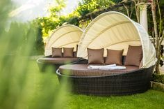Pure Entspannung im Garten vom Ansitz Schulerhof bei Plaus