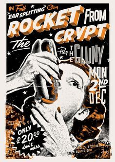 Rocket from the Crypt gig poster.