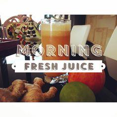 Ginger lemon & apple juice