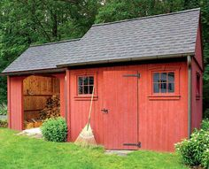 who wouldn't love this red shed . . . heck, we've all got some stuff to put in a shed in our back yard, haven't we??