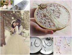 Shabby chic winter wedding inspiration