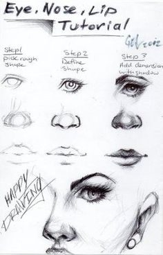 Art drawings · eye, nose and lip tutorial! it's in the shadows drawing practice, drawing lessons Drawing Lessons, Drawing Techniques, Learn Drawing, Drawing Practice, Figure Drawing, Drawing Skills, Drawing Sketches, Art Drawings, Drawing Ideas